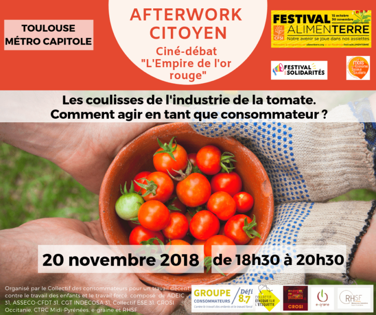 Promotional poster for after work on the tomato industry