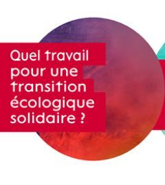 """Promotional poster for the seminar """"Ecological Work and Transition""""."""