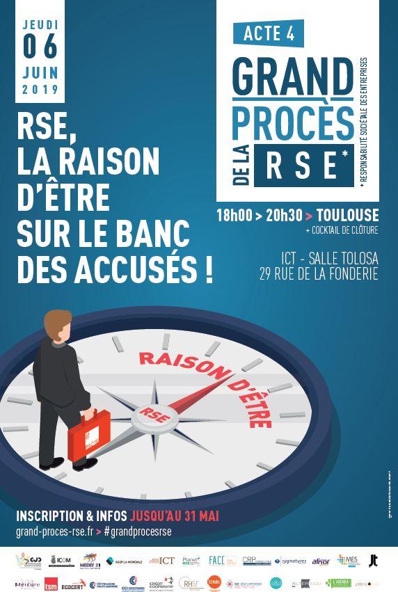 Affiche de promotion pour le Grand Procès de la RSE le 6 juin 2019