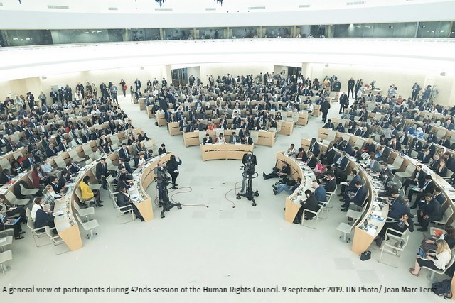 An overview of participants at the 42nd session of the Human Rights Council.