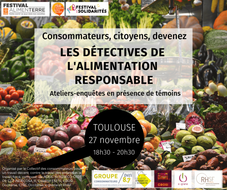 Promotional poster for responsible food detectives