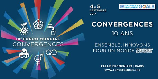 Promotional poster for the 10th edition of the Convergences forum